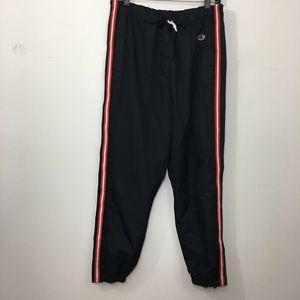 Champion kids break away lined black track pants L